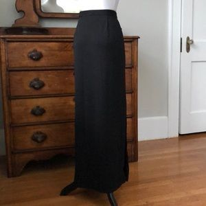 Ann Taylor Black Stretch Maxi Skirt, Size 6
